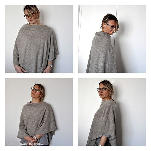 Super Easy One Seam Poncho Tutorial | Sewing for Women