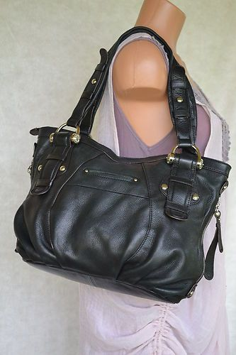 B Makowsky Handbag Purse Black Genuine Leather Ebay