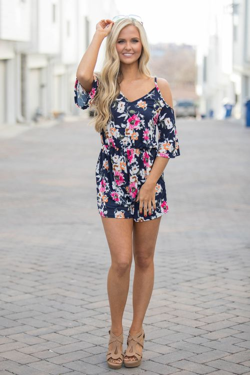 51accf913968 Music On My Mind Floral Romper. Casual ClothesSummer ClothesSummer  OutfitsFloral RomperLily BoutiquePink ...