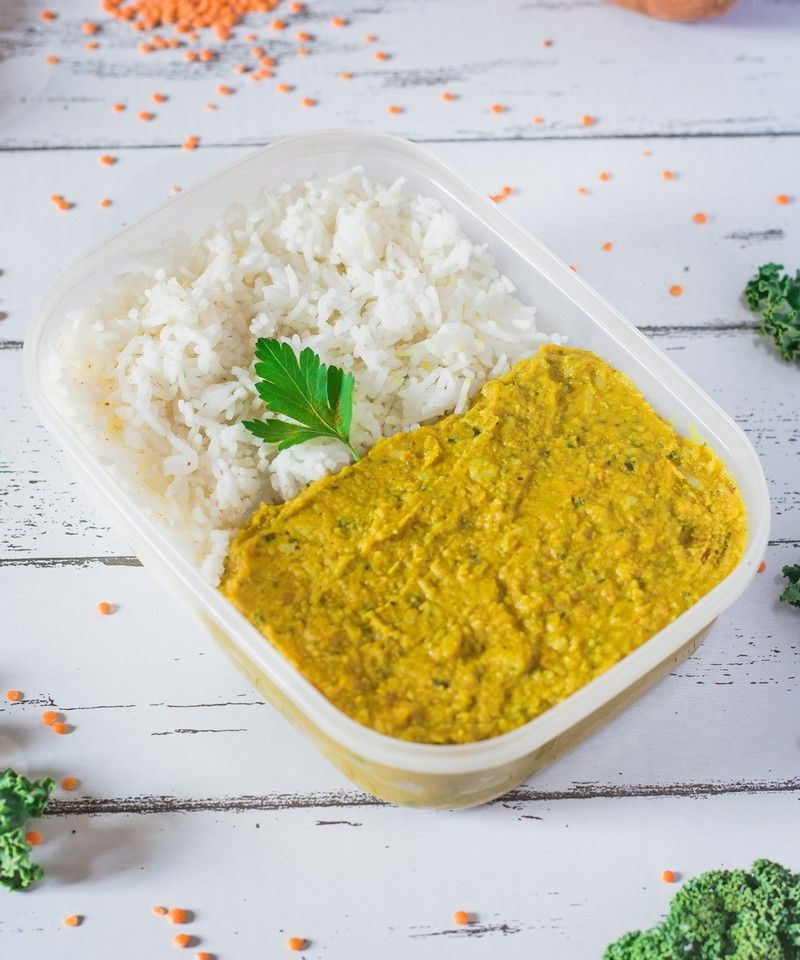 Coconut Curry Lentil Dhal Gluten Free Oil Free Recipe
