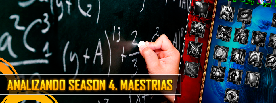 Analizando Season 4, Maestrias
