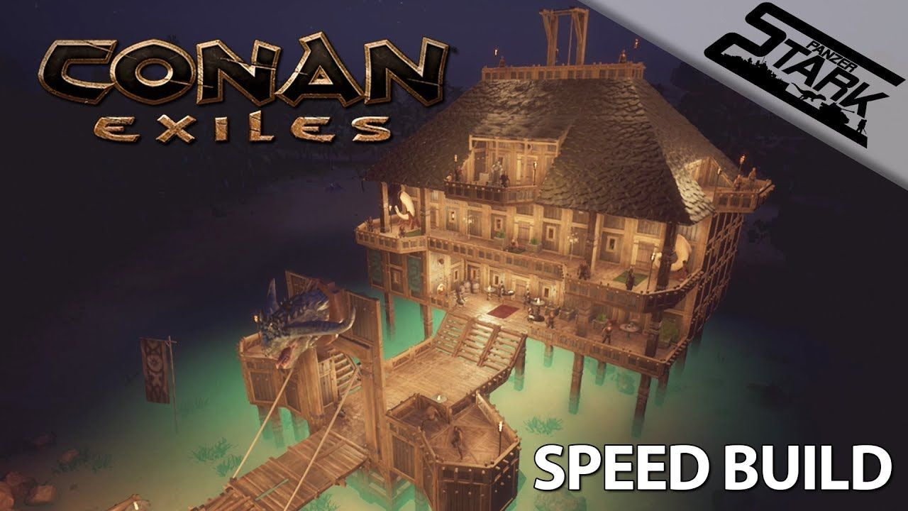 Conan Exiles Speed Build 1 Steghaz Lake House Stark