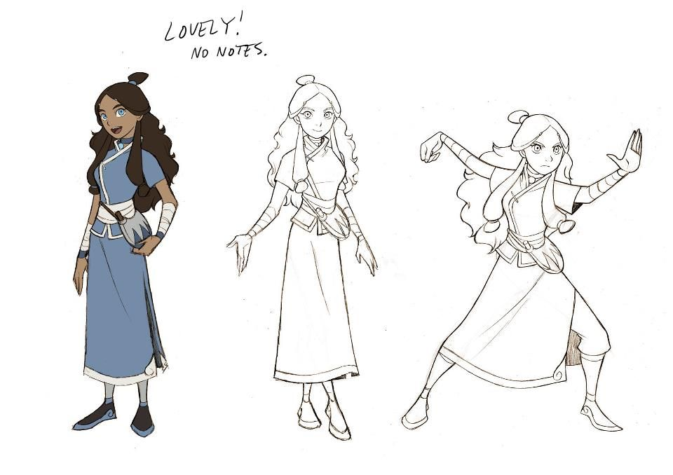 Character Design Avatar The Last Airbender : Avatar the last airbender promise katara model