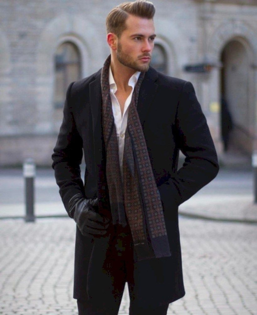 35 Elegant All Black Winter Men Outfits Ideas - VIs-Wed #mensfashion