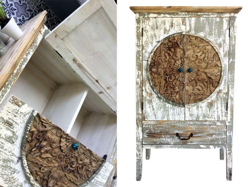 armario antiguo, perfecto como botellero, decorar con piezas ...