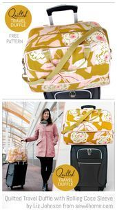 DIY Quilted Travel Duffle Bag Free Sewing Patterns DIY Quilted Travel Duffle Ba DIY Quilted Travel Duffle Bag Free Sewing Patterns DIY Quilted Travel Duffle Bag Free Sewi...