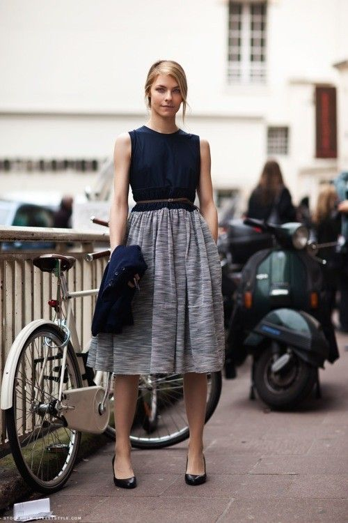 Navy top and Tweed fusion Fashion Pinterest Ropa