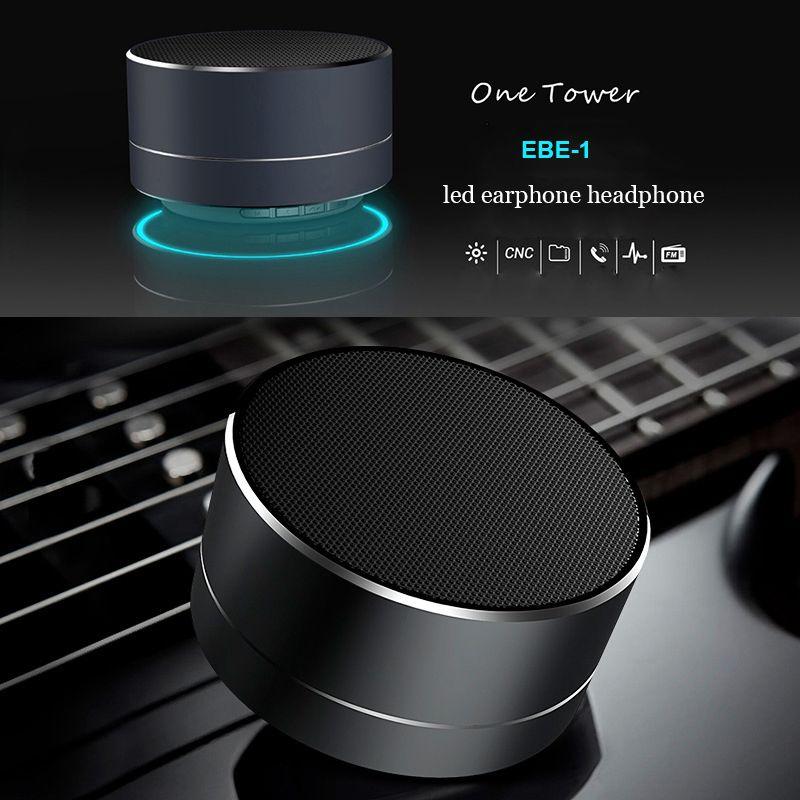 Wireless Bluetooth Speakers Led Metal Steel Mini Portable Speaker Smart Hands Free Speaker Fm Radio Wireless Speakers Portable Mini Bluetooth Speaker Bluetooth