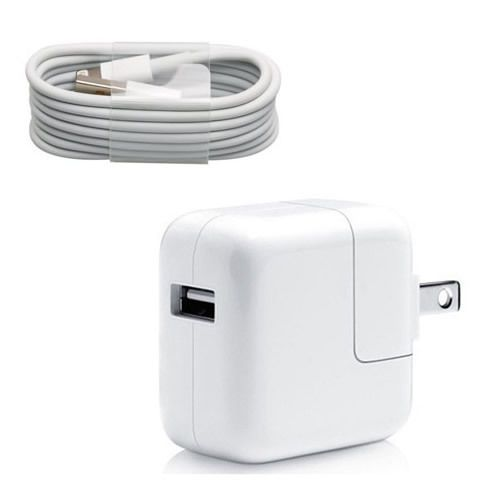 12w Usb 2 4 Amp Wall Charger 8 Pin Cable For Apple Ipad Mini Air Iphone 6s 6s Ebay Ipad Charger Apple Charger Wall Charger