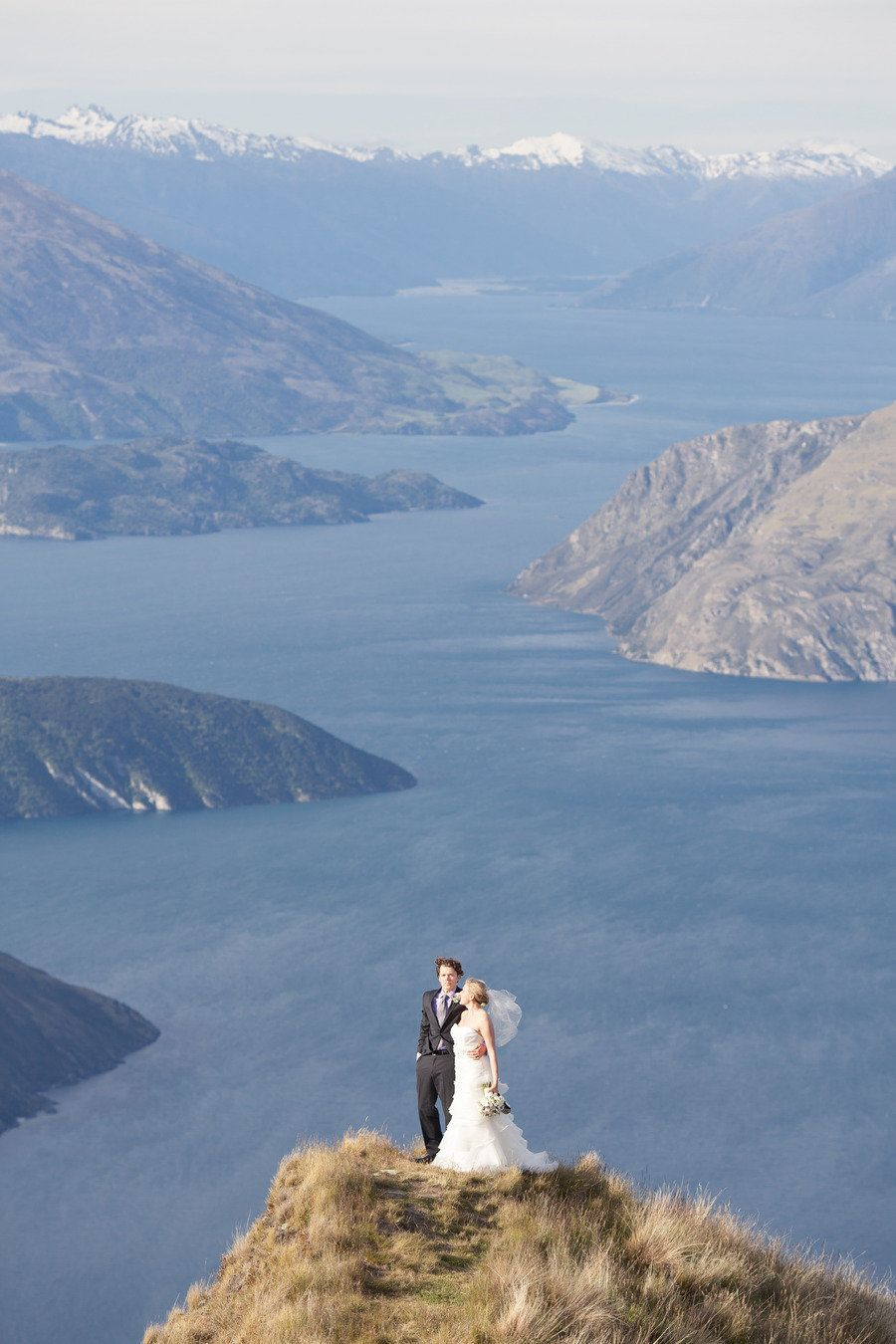 One stunning ceremony setting...New Zealand Elopement from Alpine Image Company + Sunshine Wedding Films Read more - http://www.stylemepretty.com/destination-weddings/2013/08/06/new-zealand-elopement-from-alpine-image-company-sunshine-wedding-films/