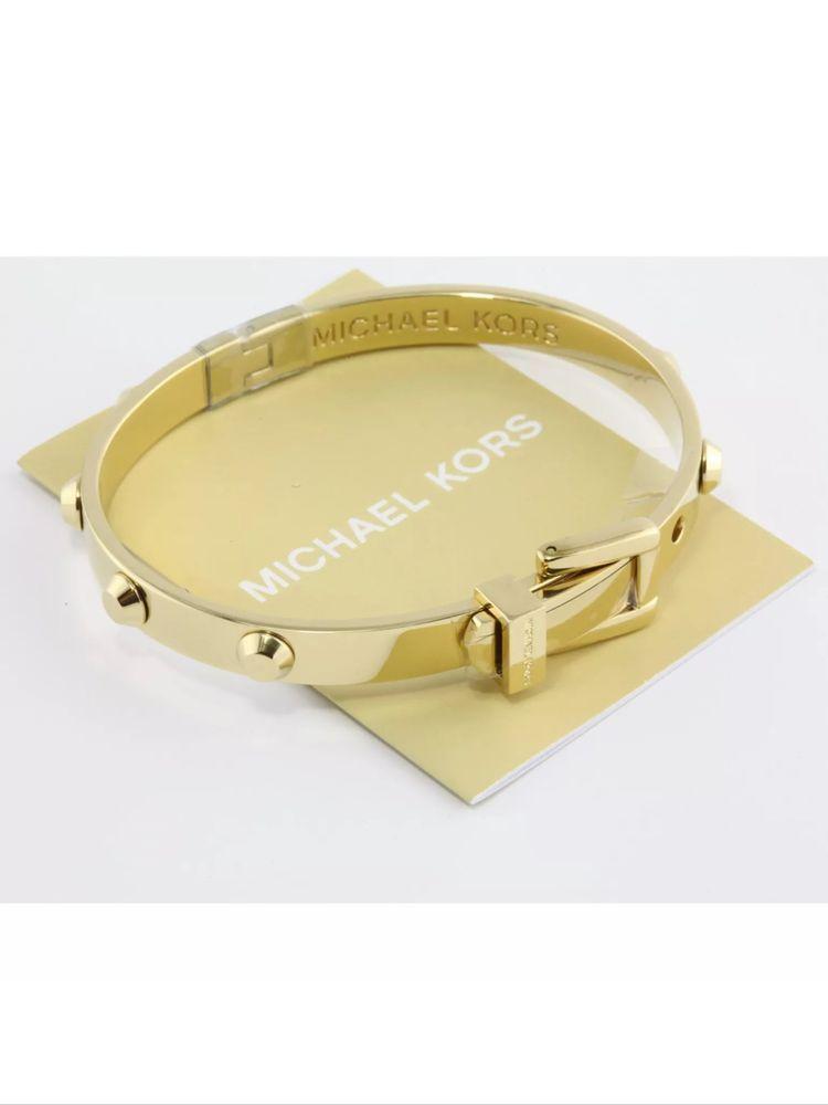Brand New Michael Kors Gold Tone Stud Bracelet Mkj1819710 Original Bag Ebay