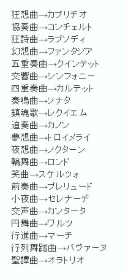 いつか役に立ちそうな画像 Yakudachi Img さん Twitter 雑学 言の葉 音楽用語