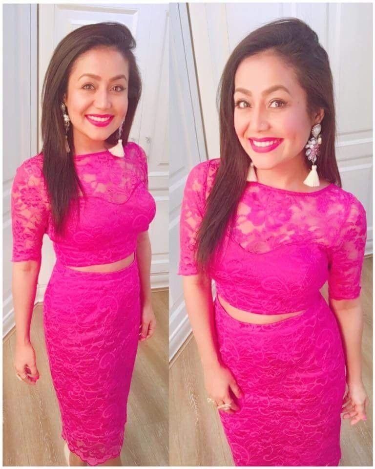 Neha Kakkar In Pink Skirt Top Braso Skirt Top Plain Skirt Top Designer Skirt Top Party Wear Ski Neha Kakkar Dresses Stylish Short Dresses Fashion Clothes Women