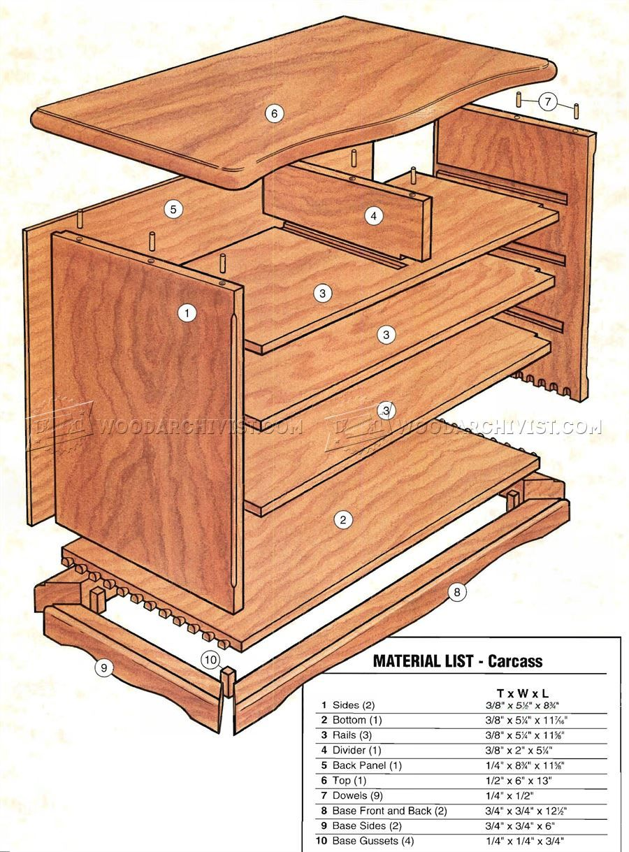 1589 Heirloom Jewelry Box Plans Woodworking Plans Woodworking