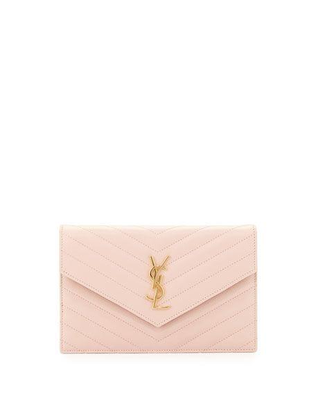 57c3289f9a4 Monogram Small Matelassé Envelope Chain Wallet Pale Pink | stuff ...