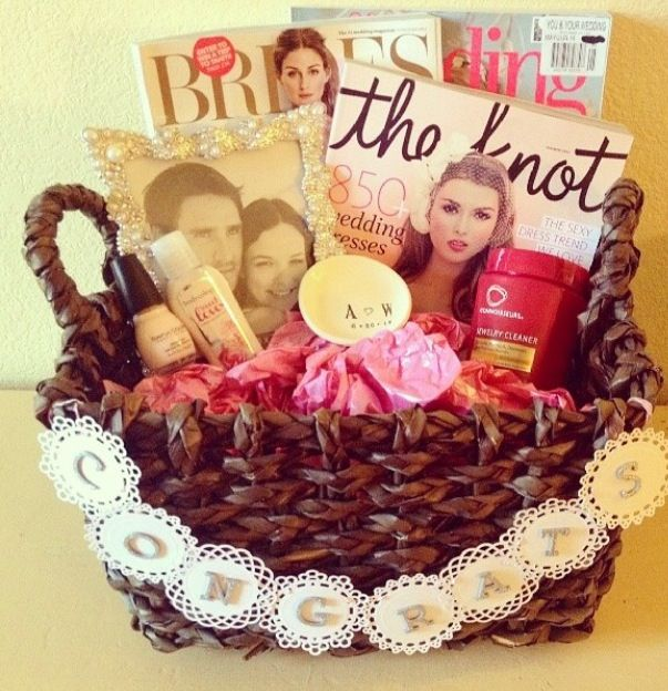 Best Wedding Gifts For Friends: Engagement Basket, I Made For My Best Friend From High