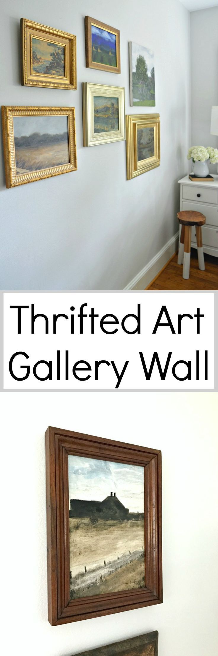Thrift store art gallery wall blogger home projects we love