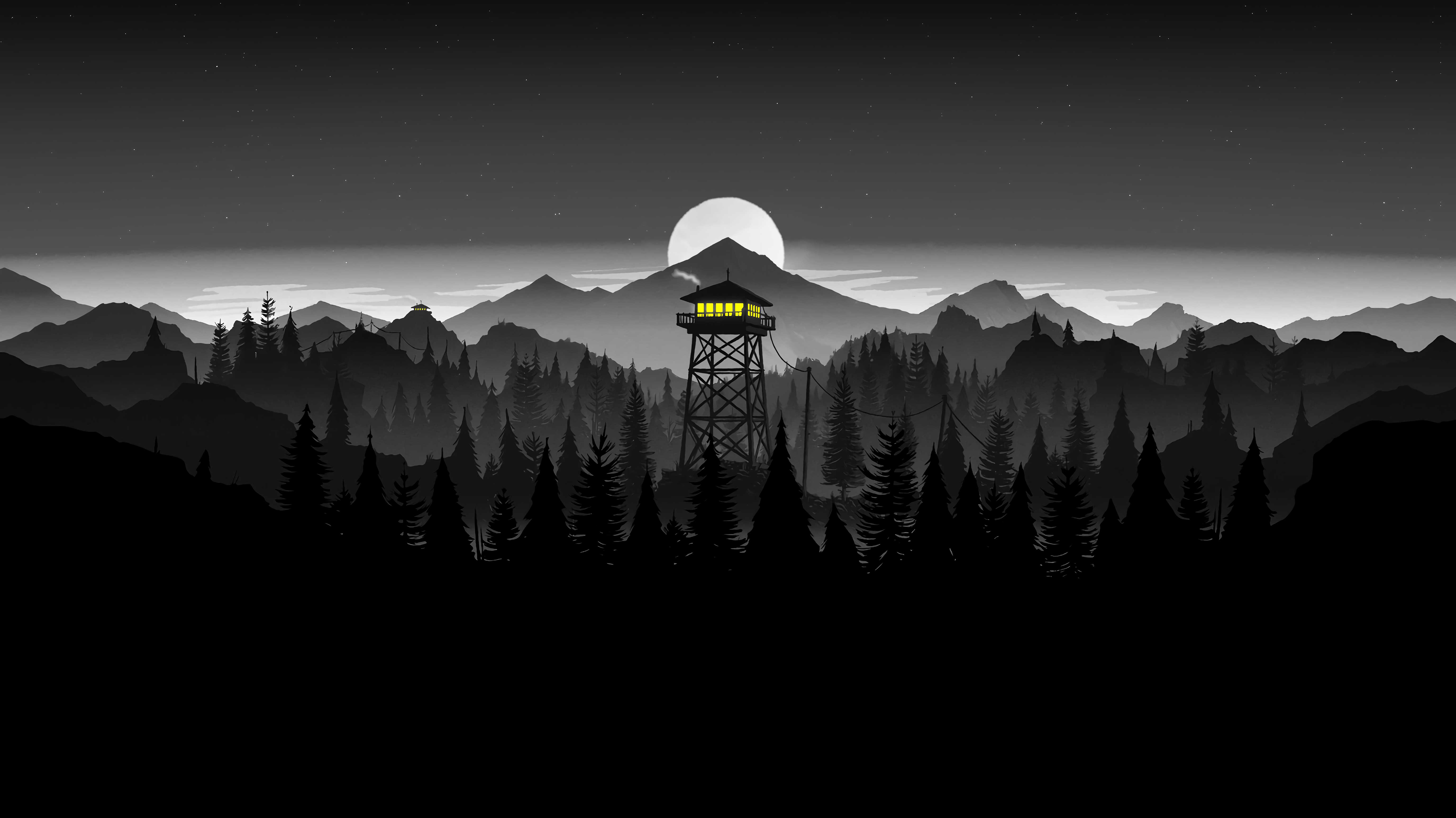 Matching Wallpaper Of Firewatch Tower White Edit By U Computer Wallpaper Desktop Wallpapers Laptop Wallpaper Desktop Wallpapers Aesthetic Desktop Wallpaper