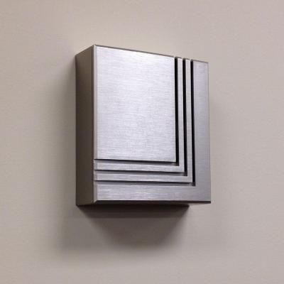 Low Voltage Transformer Home Depot Hampton Bay Wireless Or Wired Door Bell Brushed Nickel  Brushed