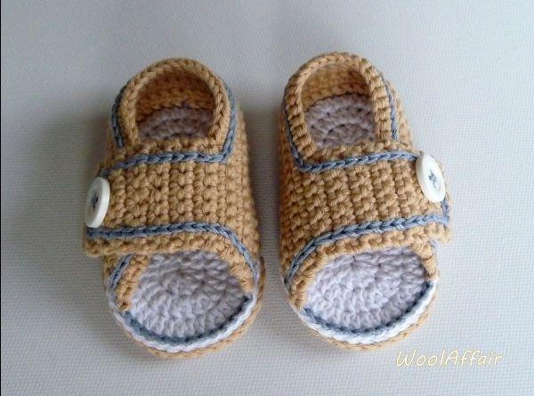 Baby-Häkel-Sandalen #2 Häkelanleitung für Sommer-Sandalen Babyschuhe ...
