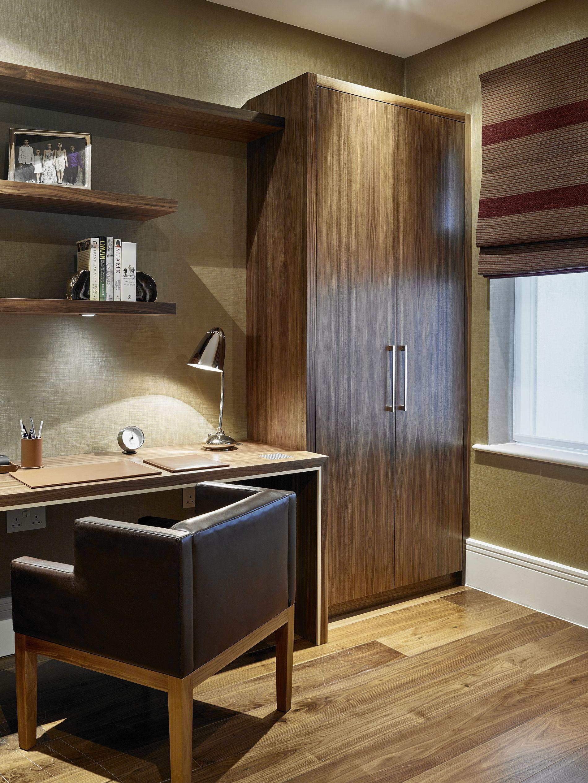 Bespoke Home Office Furniture. Midcentury Modern Desk, Shelves And Wardrobe  For Study In Merton, South West London