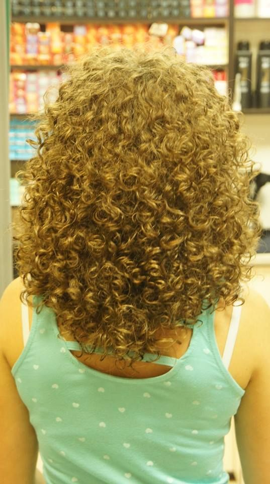 Beautiful Perm With Tighter Curl Back View Perms Curls