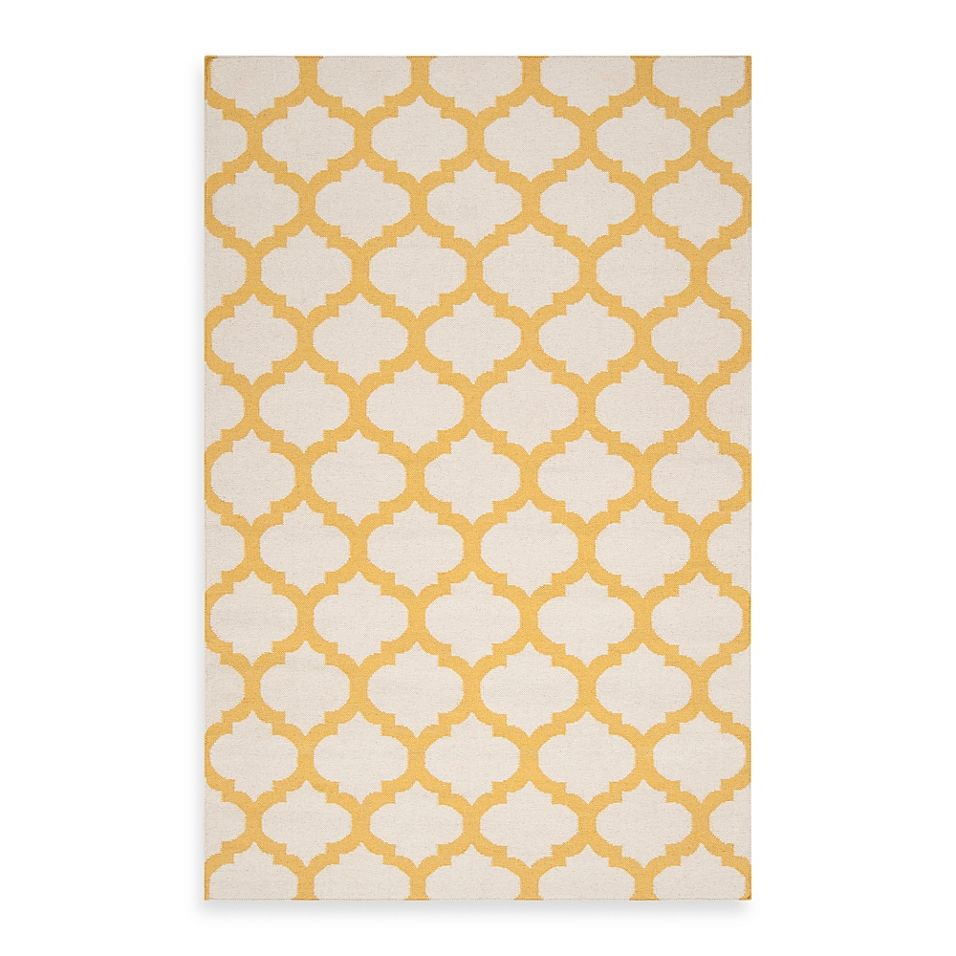 Surya Frontier 2 X 3 Accent Rug In Golden Yellow White Yellow