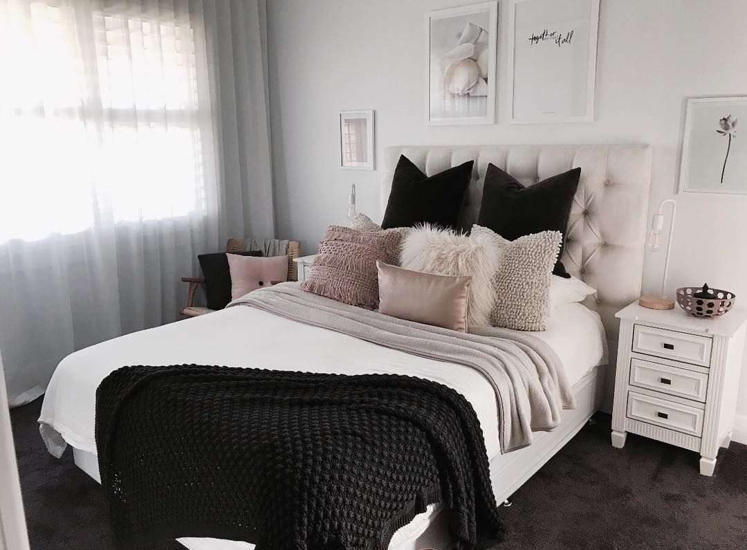Chambre Blanc Et Rose   Chambre A Coucher Blanche Douce Chambre ...