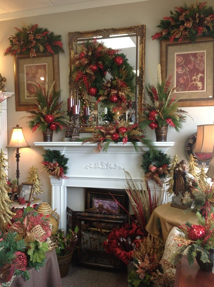 Elegant Christmas Mantels Mantel in the elegant christmas room at