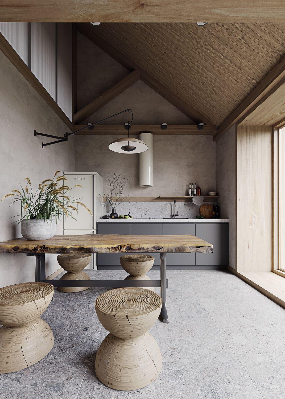 House of Silence», a Virtual Home  Intérieur de cuisine, Design