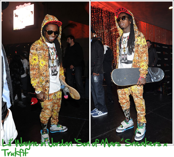 80d4830baaa5 Lil  Wayne in Trukfit and Jordan  son of mars  kicks. Sick!