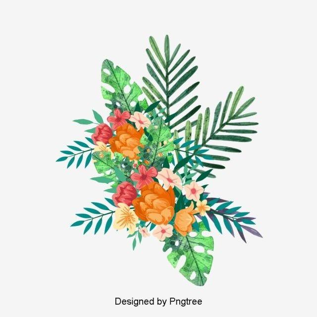Flowers Flower Plant Petal Plants Leaves Tropical Flower Tropical Flowers Clipart Hd Flowers Vint In 2020 Flower Painting Floral Wreath Watercolor Hand Painted Flowers