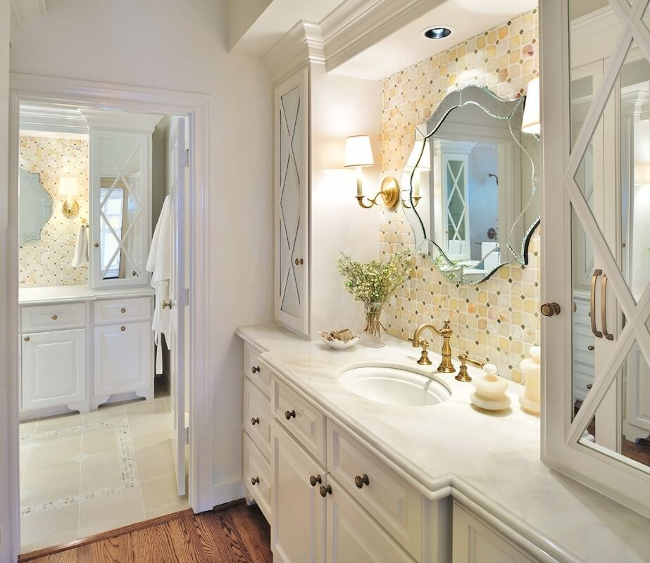 The 12 Inch Deep Upper Bathroom Cabinet Include One In Your Next Remodel Designed Small Bathroom Elegant Bathroom Closet Remodel