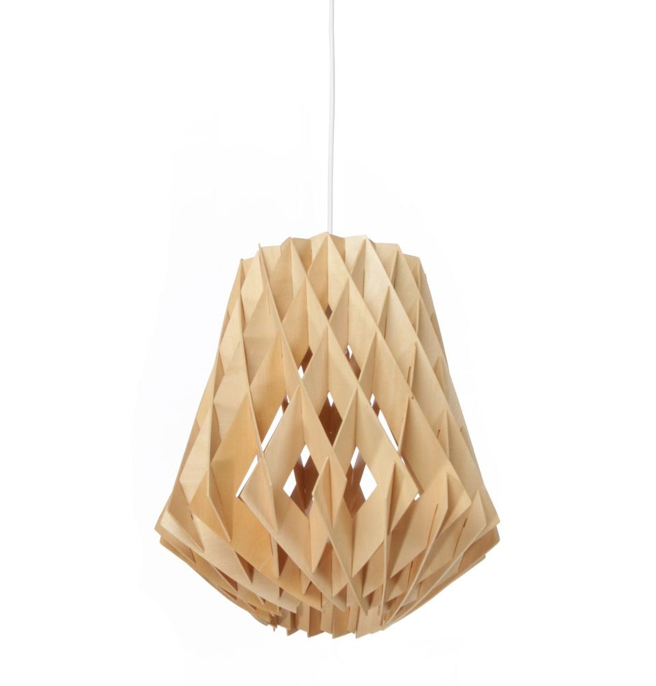 Small plike pendant lights white black natural wood pendant light