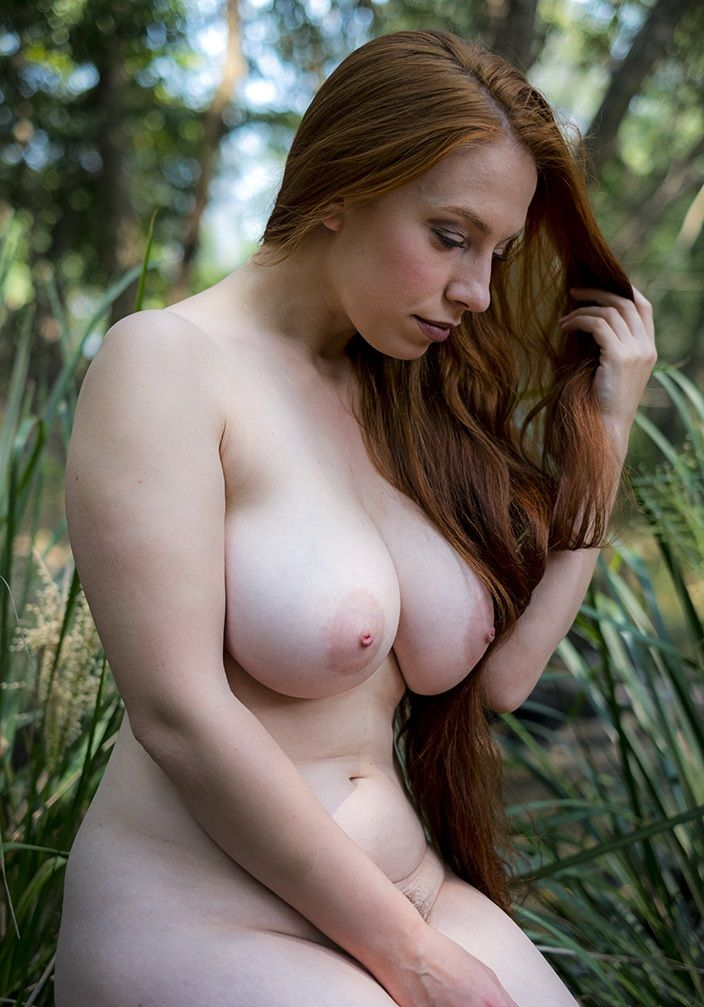Big breasts redhead girl gives head 9