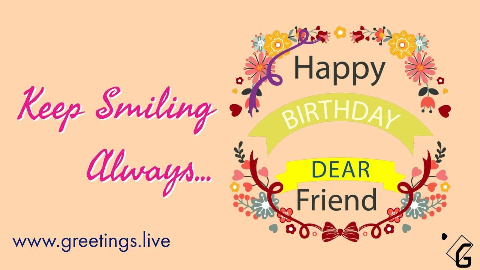 To All Friends Birthday Wishes Simple Greetings Happy My Dear Friend HD