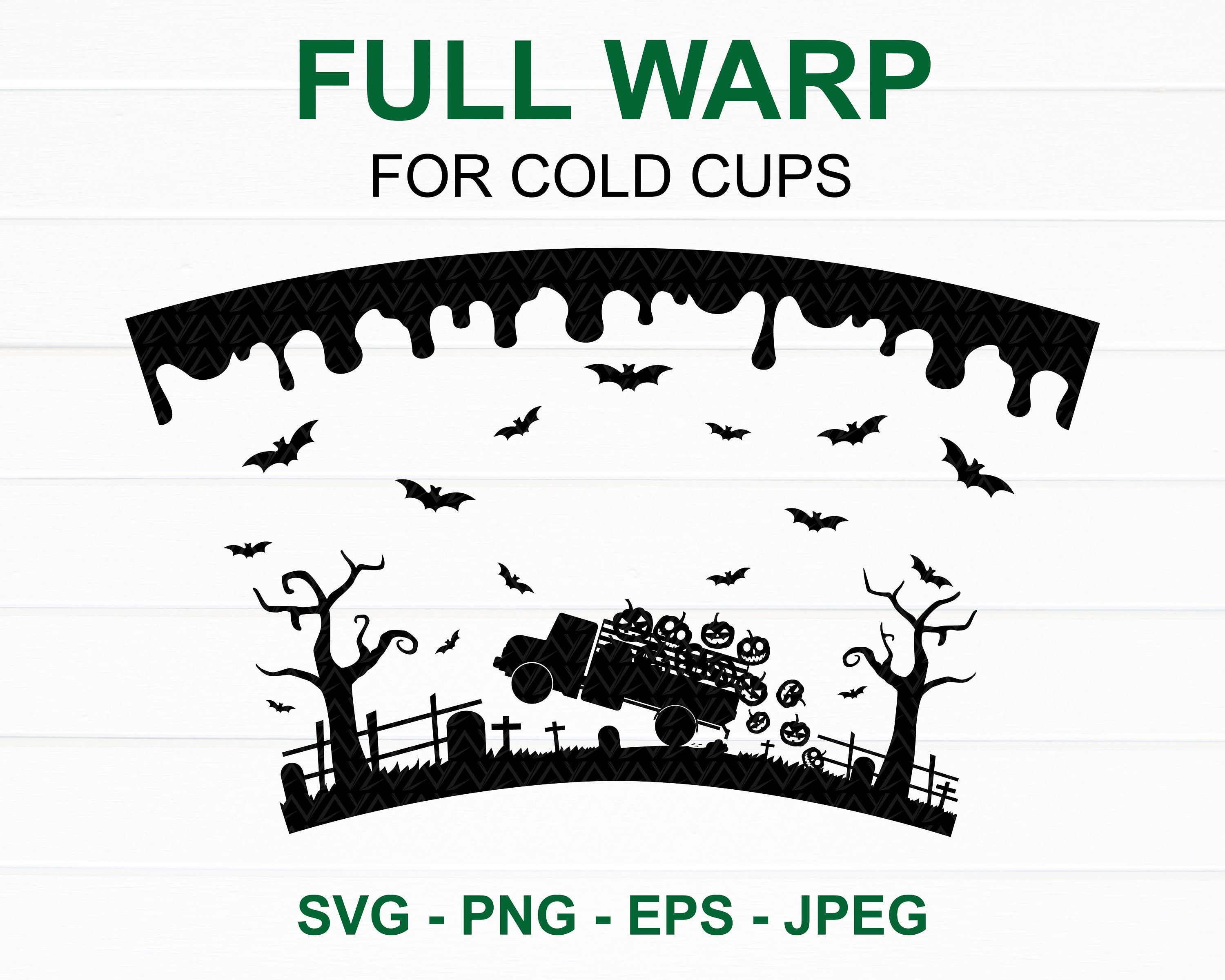 Halloween Starbucks cup SVG, Halloween Full Wrap Starbucks
