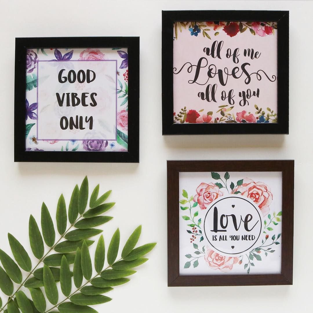 Brighten Up Your Living Space With Our Quote Art Frames Type7 Artframe Goodvibes Loveisallyouneed Allofmelovesallofyou Home Framed Art Frame Quirky Art