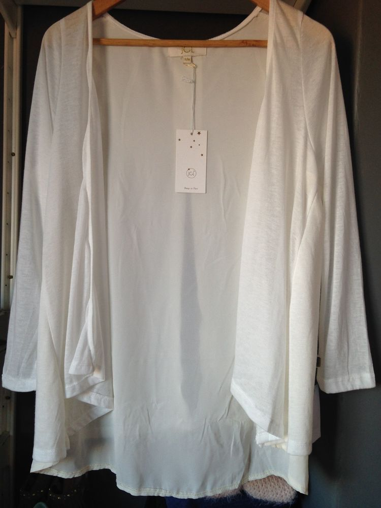 New White Waterfall Long Sleeved Cardigan - BNWT Womens Size UK 10 ...