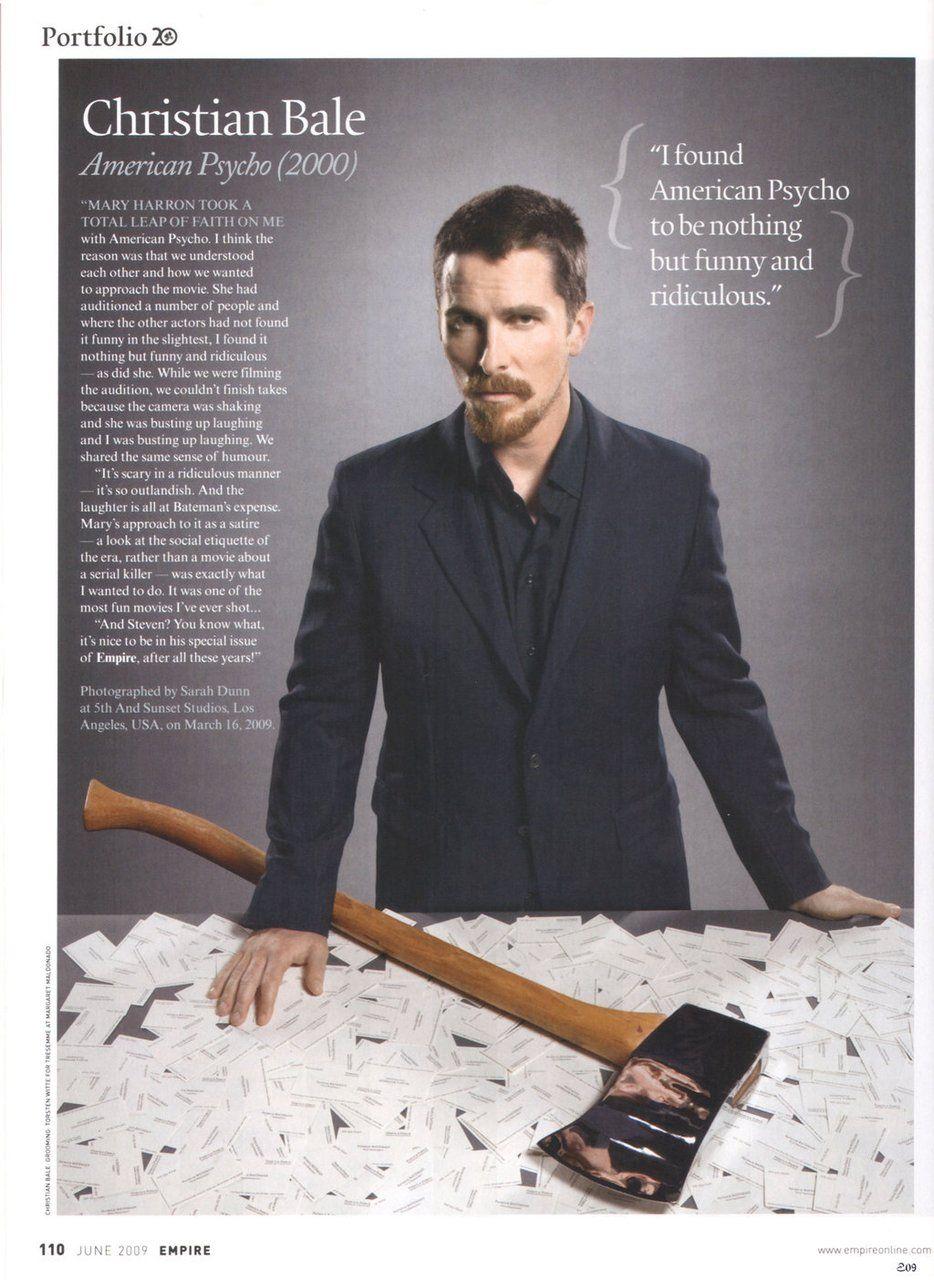 Christian Bale talks about playing Patrick Bateman  American