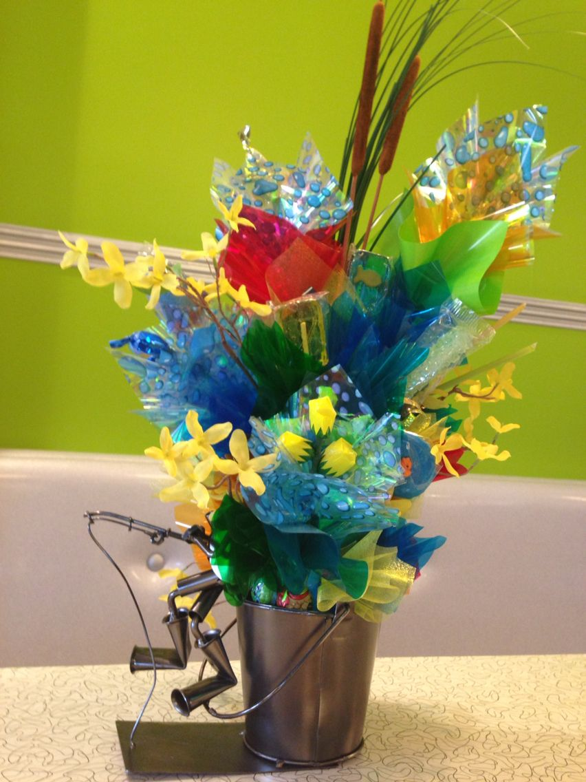 Fishing Themed Candy Bouquet Candy Bouquets Pinterest Candy