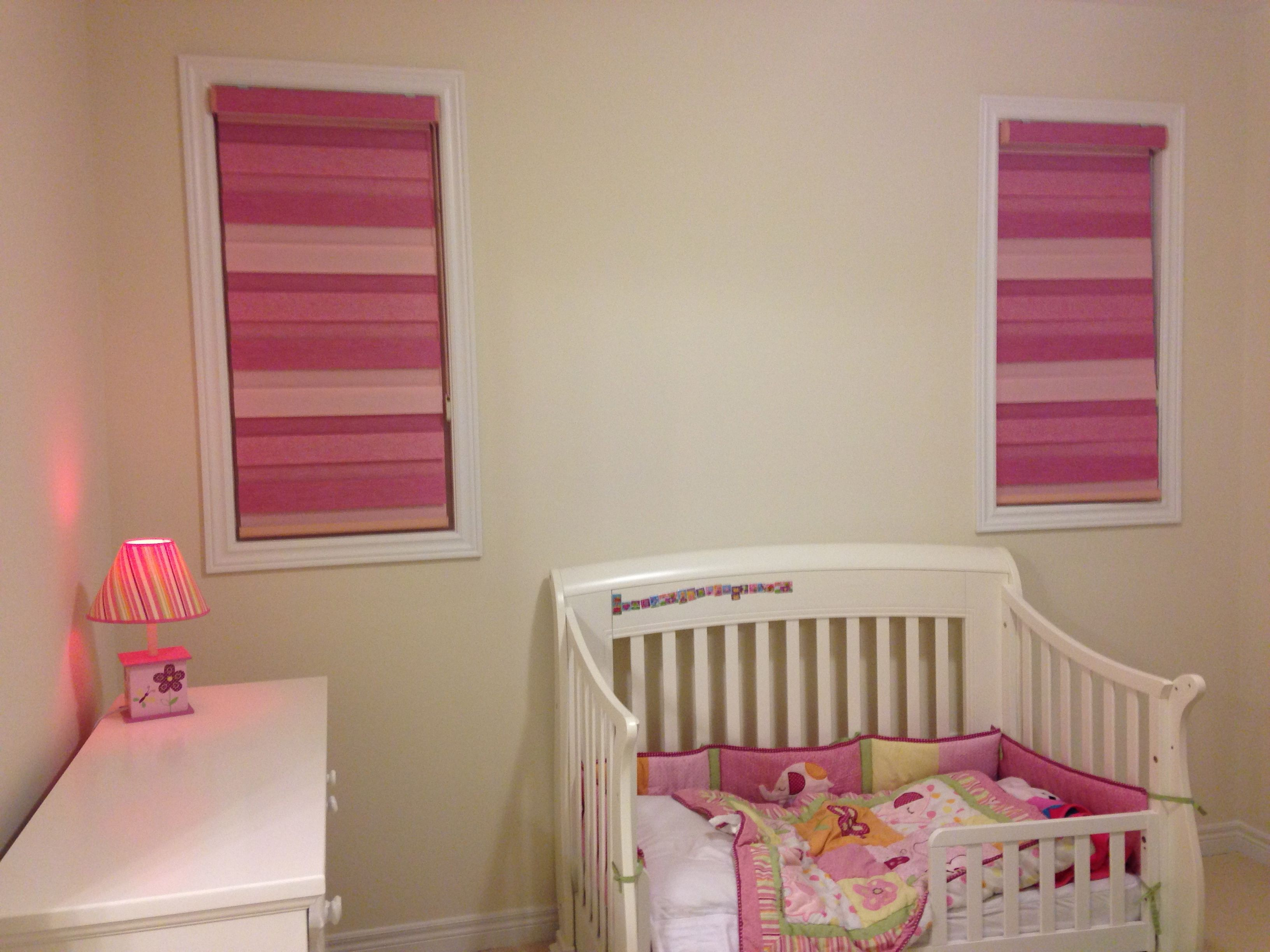 3D Combi Blinds in 3 shades of pink. Matches the pinks in ...