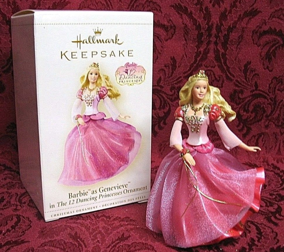 2006 Barbie As Genevieve From The Dancing Princesses Barbie 12 Dancing Princesses 12 Dancing Princesses Hallmark Ornaments