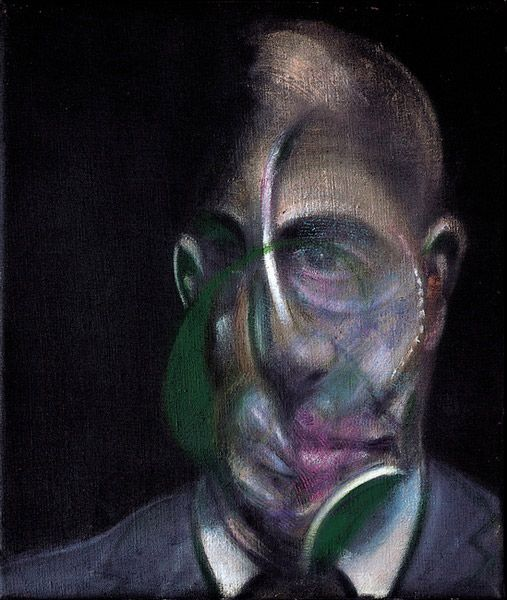 """Francis Bacon, """"Portrait de Michel Leiris"""", 1976."""