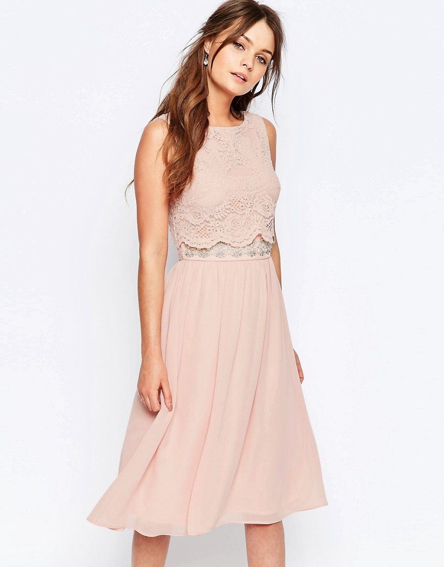 Elise+Ryan+Skater+Dress+With+Scallop+Lace+Overlay | Blush Dresses ...