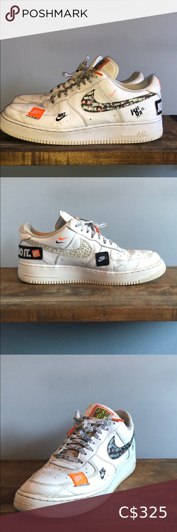 Nike Just Do It Air Force 1 in 2020 Rare shoes, Nike