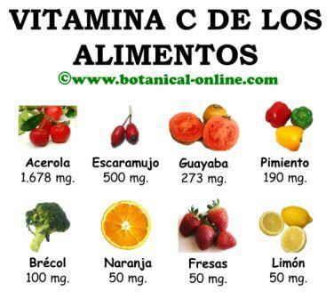 Fuentes de vitamina c alimentos con vitamina c nutricio pinterest vitaminas fuentes y - Alimentos que contiene vitamina d ...