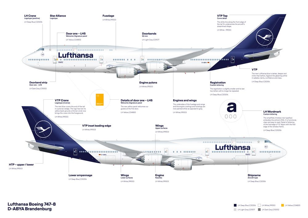 New Logo Identity And Livery For Lufthansa Done In House Airlines Branding Airline Logo Airplane Design