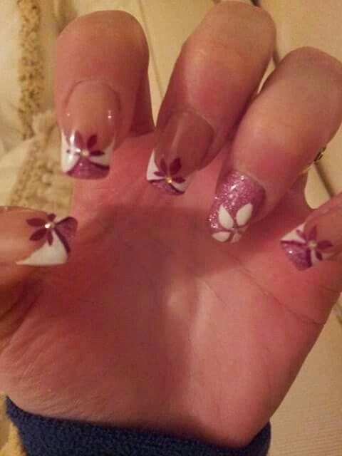 French bianco rosa glitter particolare fiori | French ...