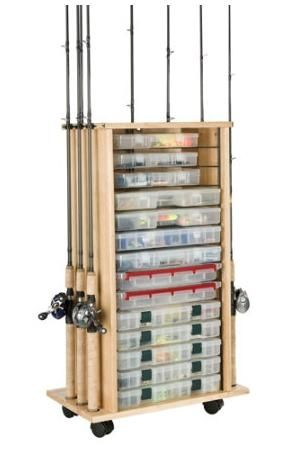 Rod tackle storage outdoors and things for josh for Fishing rod storage cabinet